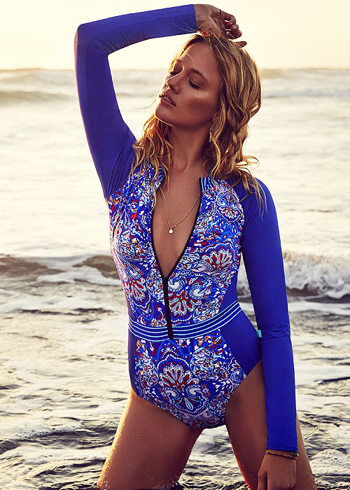 Piha Boho Stripes Long Sleeve Zip Suit