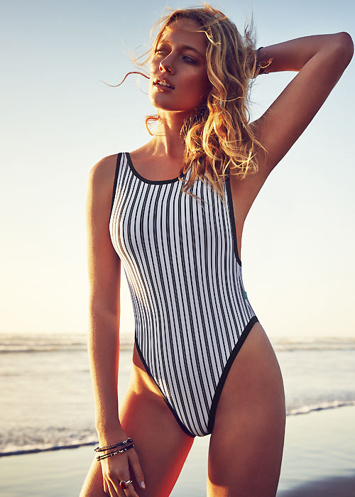Piha Shadow Stripes Tank Suit