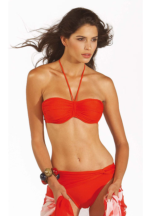 Roidal Helen Bandeau Bikini In Red
