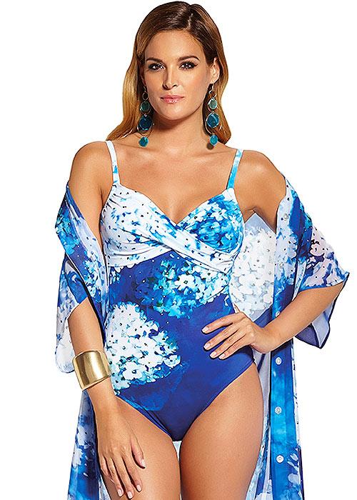 Roidal Blue Flower Belen Swimsuit