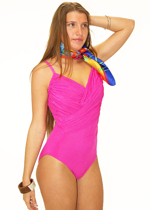 Roidal Canne Swimsuit in Fuschia