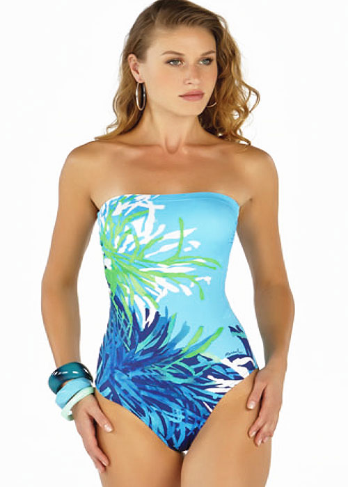 Roidal Coral Bandeau Swimsuit