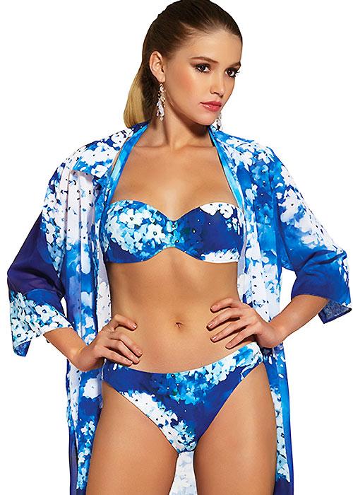 Roidal Blue Flower Ondin Bikini