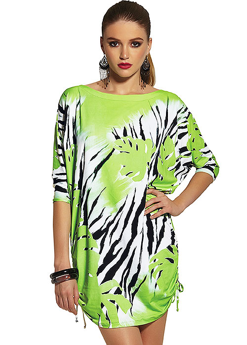 Roidal Zebra Palm Sirgana Sun Dress