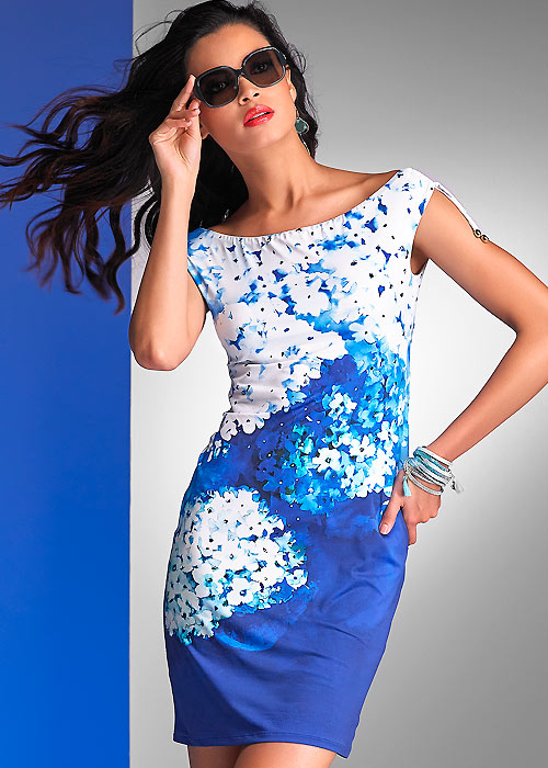 Roidal Blue Flower Ursula Sun Dress