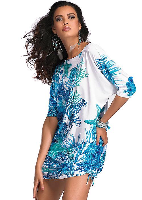 Roidal Coral Venice Sun Dress