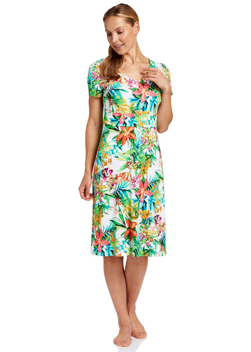 Rosch Pretty Plumeria Sun Dress