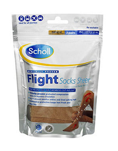 Scholl Semi-Sheer Soft Flight Socks
