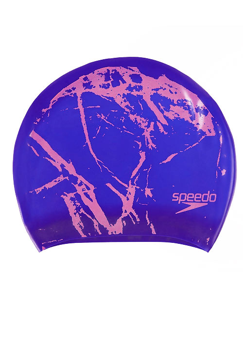 Speedo Long Hair Printed Swim Cap
