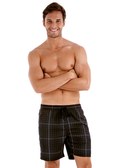 Speedo Mens Check Leisure 18 Inch Water Short - Black