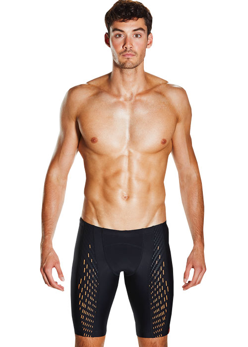 Speedo Mens Fit Powermesh Black Pro Jammer