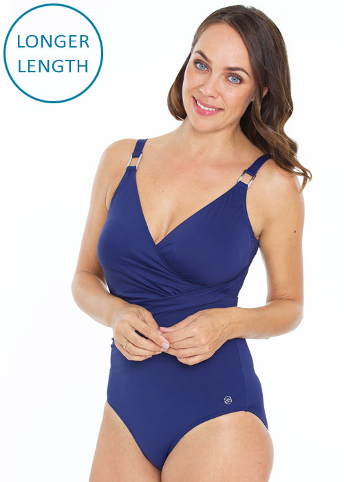 Seaspray Azurite Navy Classic Draped Swimsuit
