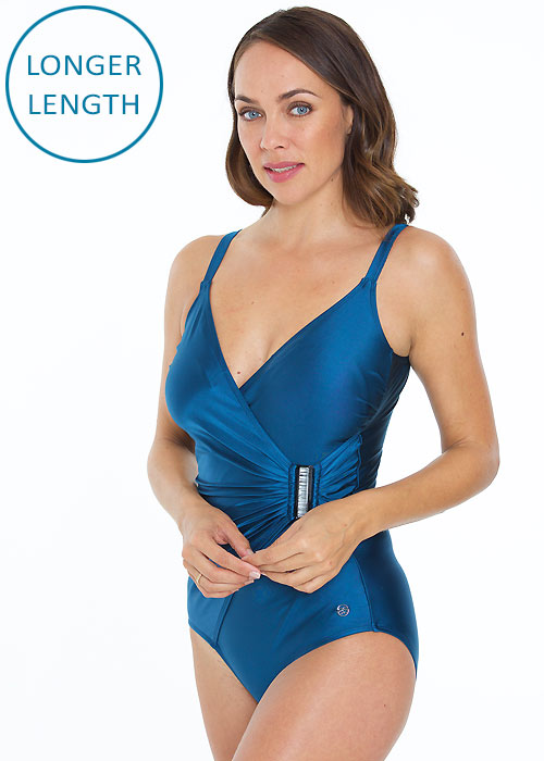 Seaspray Aura Teal Side Buckle Strap Swimsuit