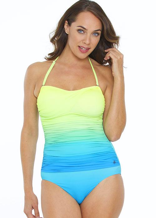 Seaspray Chartreuse Ombre Bandeau Swimsuit