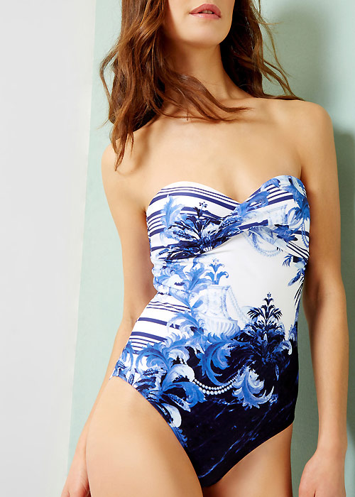 Ted Baker Persian Blue Henrila Bandeau Swimsuit