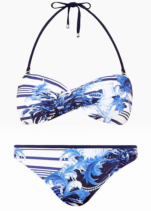 Ted Baker Persian Blue Henroa Bandeau Bikini