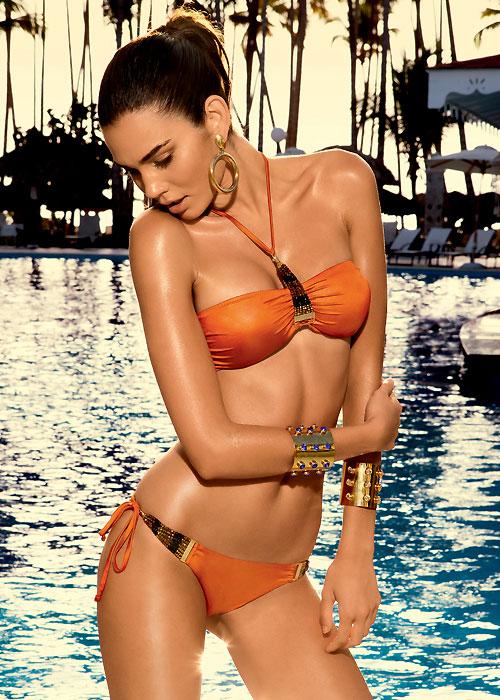 Vacanze Italiane Gold Label Senape Halter Neck Bikini