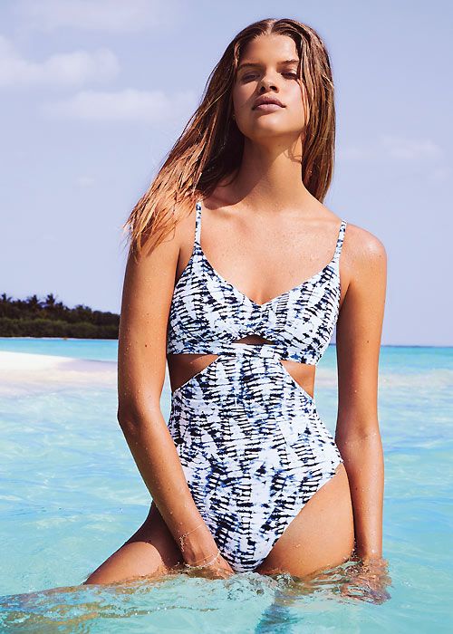 Watercult Batik Twist Cut Out Swimsuit