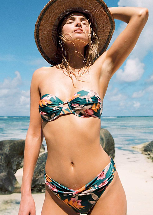 Watercult Hyper Vintage Bandeau Bikini