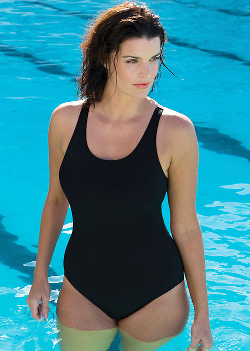 Zoggs Essentials Cottesloe Powerback Swimsuit Black Has