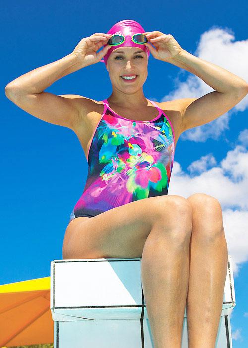 Zoggs Flower Freeze Twin Back Swimsuit